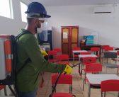 Escolas municipais passam por desinfecção para retorno seguro das aulas presenciais